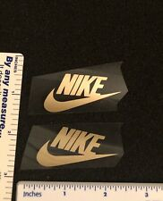 2 Gold Nike Iron On Logos 2 Inches Wide