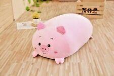 30/60/90CM ANIMAL SWEET PIG BEAR PLUSH TOY SOFT CARTOON STUFFED DOLL BABY PILLOW
