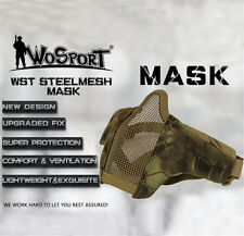 Tactical Half Face Mesh Airsoft Steel Mesh Hunting Mask Protective Cover Army