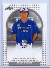 """ETHAN HANKINS 2017 """"1ST EVER PRINTED"""" LEAF PERFECT GAME ALL-AMERICAN ROOKIE CARD"""