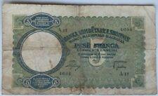 More details for albania 5 franga  1939       p-6s