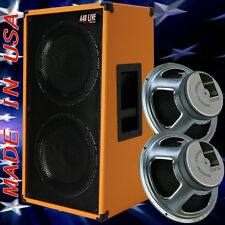 2x12 Vertical Guitar Spker Cabinet Orange Tolex W/Celestion G12K100 Speakers