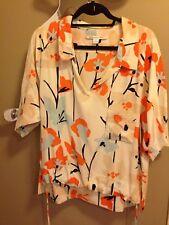 DVF silk blouse multicolor size 12
