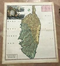 CORSICA FRANCE 1735 by HOMANN HRS LARGE NICE ANTIQUE MAP 18e CENTURY