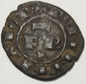 Medieval Hammered Bronze Coin Italy Sicilia 1220-1250 A.D. Federico II
