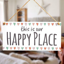 This Is Our Happy Place - Handmade Novelty Sign / Plaque For Family Rooms Snug