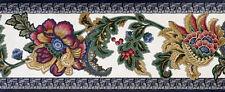Lively Jewel Toned Jacobean Wallpaper Border