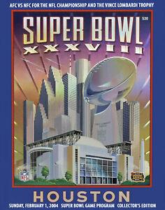 Super Bowl XXXVIII (2004 - Patriots vs Texans) Game Program - 8x10 Photo