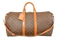 Louis Vuitton Monogram Keepall 50 Bandouliere Travel Bag Strap M41416 - YF02330
