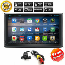 Camera+2Din 7'' GPS Navi Android 5.1 Quad-Core Car Stereo No-DVD Player Wifi USB