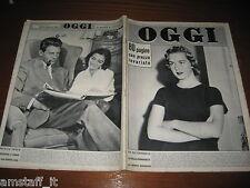 RIVISTA OGGI 1956/44=PIA LINDSTROM=MARISA PAVAN=JEAN PIERRE AUMONT=