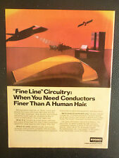 8/1984 PUB HUGHES AIRCRAFT COMPANY FLEX CIRCUITRY SATELLITE CIRCUITS ORIGINAL AD
