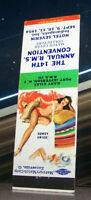 Vintage Matchbook Cover C7 Indianapolis Indiana 1954 14th RMS Pin Up Girl Howdy