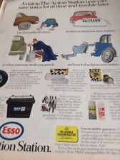 ephemera 1970 Folded Advert Esso The Action Station Saves You Time M47