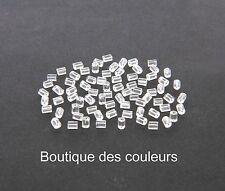 200 (4,22g) FERMOIRS EMBOUT PLASTIQUE FORME TUBE POUR BOUCLE D'OREILLE CREATION