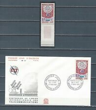 French Colonies Andorra Andorre mnh stamp & cacheted FDC ITU UIT SPACE