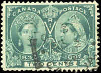 1897 Used Canada VF Scott #52 2c Diamond Jubilee Issue Stamp