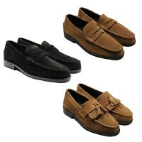 Lucini Mens Suede Casual Loafers Slip on Moccasin Shoes Summer Tassels Flats