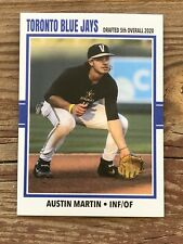 Austin Martin 2020 Toronto Blue Jays Baseball Mlb Drafted 5th Overall