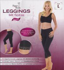 Figur Body: Bauchweg Leggings mit Spitze für eine schlankere Silhouette Größe L
