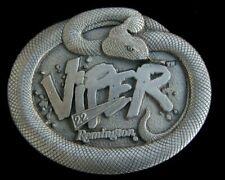 Vintage 1995 Solid Pewter Bergamot Remington Viper 522 Belt Buckle