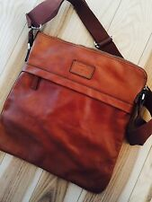 NWT Massimo Dutti Leather Messenger Bag Crossbody Ba With Adjustable Straps