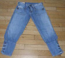 LE TEMPS DES CERISES  Pantacourt Jeans pour Femme  W 28 Taille Fr 38 (Réf# M117)