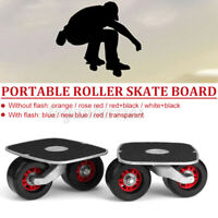 Skate Drift Board Pair Portable Metal Plate Freeline Outdoor Wide Wheels  Gen A