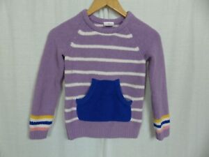 Hanna Andersson Girls Chenille Striped Long Sleeve Sweater Size 120 (6-7 Years)