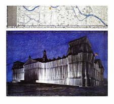 Christo poster stampa d'arte immagine offset Wrapped Reichstag XV 100x110 cm porto franco