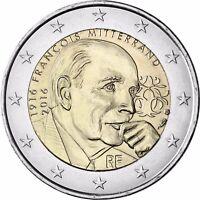 Frankreich 2 Euro Francois Mitterand Münze 2016 Gedenkmünze prägefrisch
