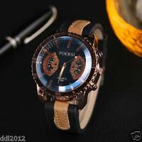 Luxury Men's Watches Leather Band Sport Military Numerals Mechanical Wrist Watch