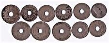11 l'Egypte monnaie collection, 4x10 Mil 1917, 6x5 Mil 1917, 5 fils 1917 #7