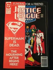 Justice League America # 70 DC Comics 1993 Funeral For a Friend Death Superman