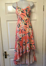 New Lipsy Hi Low Ashley Prom  / Cruise  Occasion  Strap Dress Size 12      £55