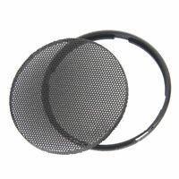 Black Car Speaker Grill Horn Protective Cover Circle Enclosure Accessories Q