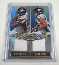 2010 Bowman Sterling Adrian Peterson/Toby Gerhart Jersey Refractor Card #/50 SP