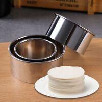 3 teile / satz Runde Knödel Wrapper Cutter Küche Kuchenform Edelstahl Gadget