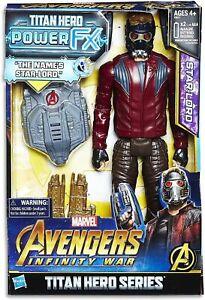"MARVEL AVENGERS INFINITY WAR 12"" STAR LORD TITAN HERO POWER FX FIGURE BRAND NEW"