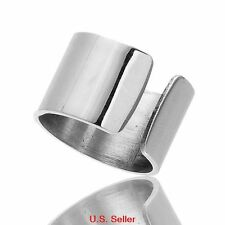 Stainless Steel Open Band Polished Shiny Ring Size 6.5 US SELLER