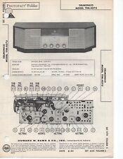 1963 DELMONICO TFM-407U RADIO SERVICE MANUAL PHOTOFACT SCHEMATIC DIAGRAM REPAIR