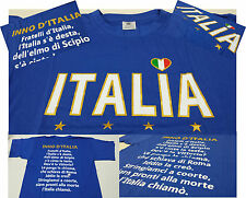 T-SHIRT ITALIA FRUIT OF THE LOOM / B&C  tricolore azzurri bandiera calcio basket