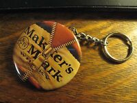 Maker's Mark Keychain - Whisky Logo Advertisement Backpack Purse Clip Ornament