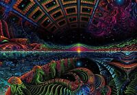 UV blacklight glow Psychedelic space shamanic Wall hanging tapestry print banner
