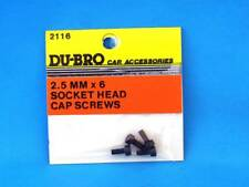 Du-bro 2116 Schrauben Inbus 2.5 mm (6) Socket Head Cap Screws Modell