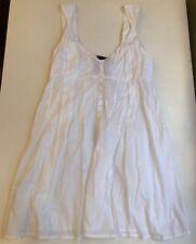White Cotton Beach Dress, Size S