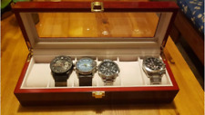 Box Holder New Gift For Men New Top Quality Luxury Red Wood Watch