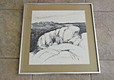 Vincent Hartgen OFF DEER ISLE MAINE Famed Pen and Ink  Listed Signed  Seascape