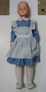 "Vintage 1976 Uneeda 31"" Girl Sleep Eyes Plastic Doll"
