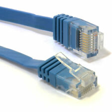 10m FLAT CAT6 Ethernet LAN Patch Cable Low Profile GIGABIT RJ45 10m BLUE [0072